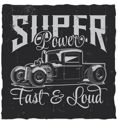 super power poster vector image