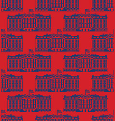 white house america seamless pattern us president vector image