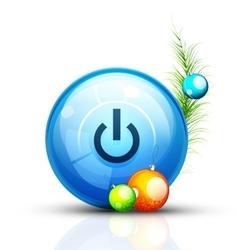 Christmas internet button vector image vector image