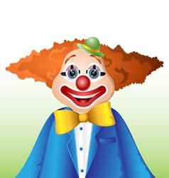 Happy cartoon clown vector image vector image