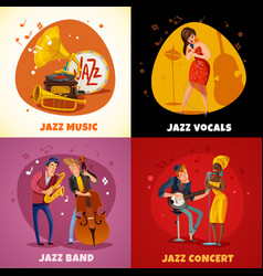 jazz music design concept vector image