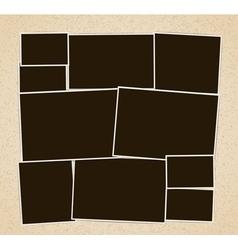 Photo frames album vector image vector image