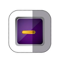 purple emblem volume down button vector image
