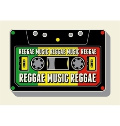 Reggae music retro typographical poster vector image vector image