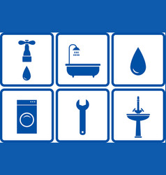 set of bath objects vector image vector image
