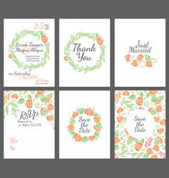 wedding design invitations vector image vector image