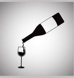 wine bottle pouring glass cup image vector image vector image