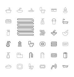 33 bath icons vector