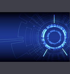 abstract blue colored technological background vector image