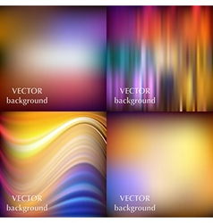 Abstract colorful blurred smooth backgrounds set E vector image
