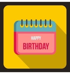 Birthday calendar icon flat style vector