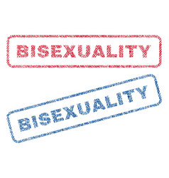 bisexuality textile stamps vector image