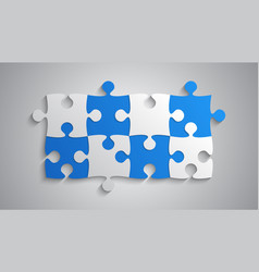 blue grey piece puzzle rectangle banner puzzle vector image