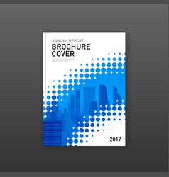 Brochure cover design template for finance vector