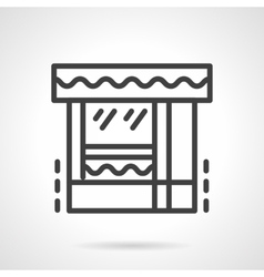 Butcher shop black line icon vector