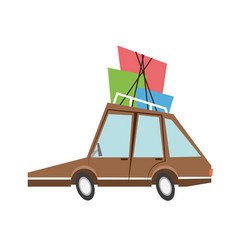 car sideview cartoon icon image vector image