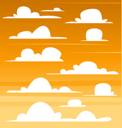 cartoon cloud template set dark sunset collection vector image