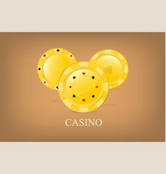 casino poster background or flyer golden vector image