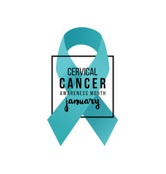 Cervical cancer support ribbon vector