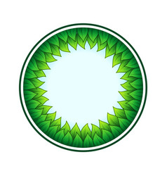 circle leaves frame and sky vector image