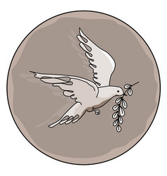 Dove with a branch vector