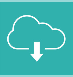 download icon with cloud and arrow vector image