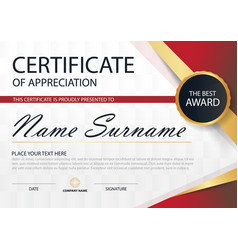 Elegance horizontal certificate with vector