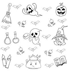 Element halloween ghost in doodle vector image