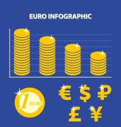 Euro infographic vector