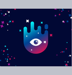 Eye simple icon look or optical vision sign vector