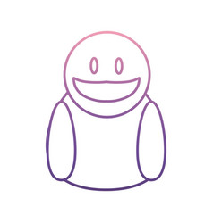 face smiling icon vector image