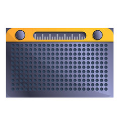 fm radio icon cartoon style vector image