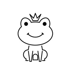 frog prince line icon from fairy tale vector image