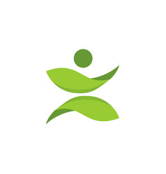 fun healthy life logo vector image