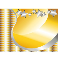 Gold and silver celebration background vector