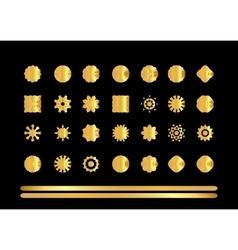 Gold ornament set vector