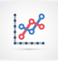 graph trendy symbol trendy colored vector image