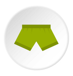 green man boxer briefs icon circle vector image