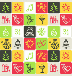 hand drawn icons set - celebrations vector image