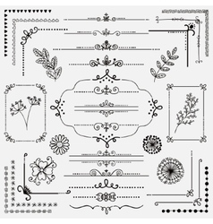 Hand Sketched Rustic Design Elements vector