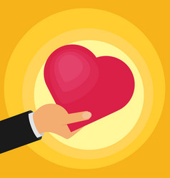 Hands of the heart icon vector