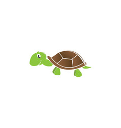 happy baby turtle smile for logo design vector image