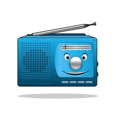 Happy retro transistor radio vector image