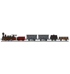 historical steam freight train vector image