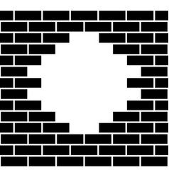 hole in a brick wall vector image