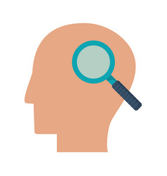 Human head search idea think vector