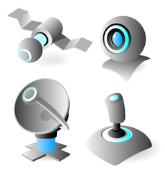 Icons with blue glow vector