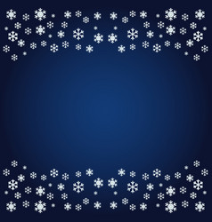 image of snowflakes from the ornament on a dark vector image