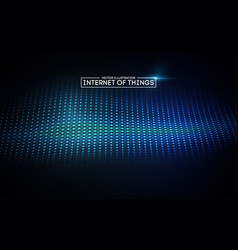 internet of things background iot technology vector image