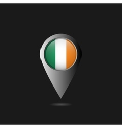 Ireland flag pointer vector image